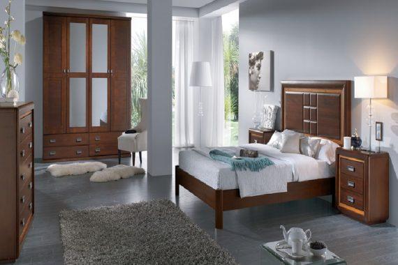 dormitorio de matrimonio rústico