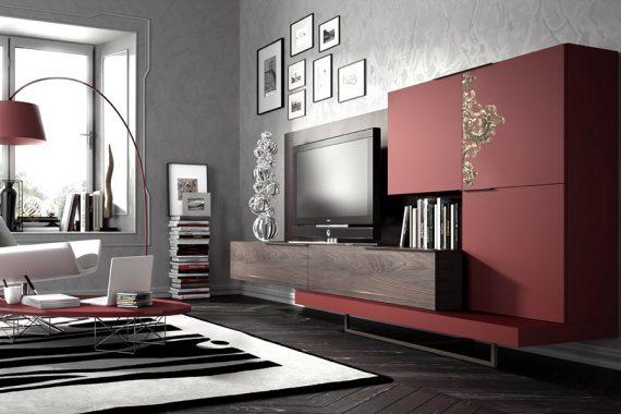 Muebles de salon mueble de saln mueble de saln muebles de saln modernos muebles de saln sus - Mueble salon rojo ...
