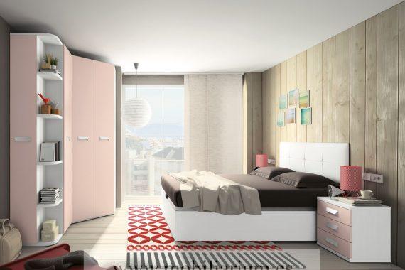 Dormitorios Juveniles Azor - Catálogo Aqua- Composición A52 - Mobiliarium