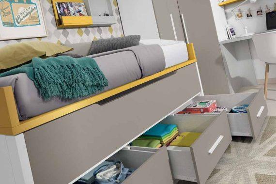 Dormitorios Juveniles Ros - Bi-Cama - Catálogo Oldschool Kids - Composición 06 - Mobiliarium