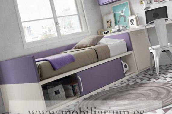 Dormitorios Juveniles Ros - Compactos y Nidos - Catálogo Oldschool Kids - Composición 24 - Mobiliarium