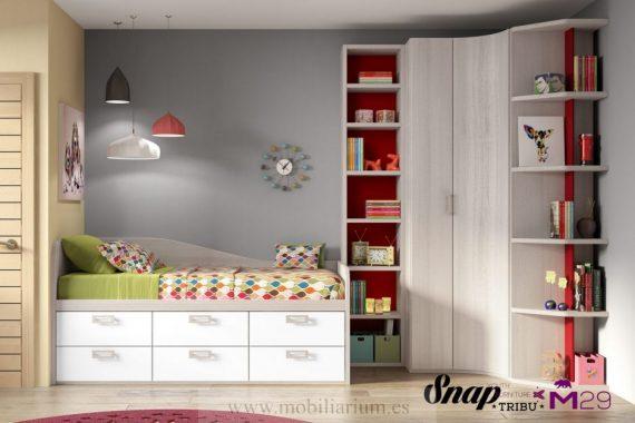 Dormitorios Juveniles Hermida - Compactos y Nidos - Composición 29 - Catálogo Tribu Snap - Mobiliarium