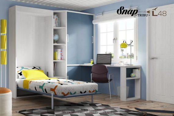 Dormitorios Juveniles Hermida - Camas Abatibles - Composición 48 - Catálogo Tribu Snap - Mobiliarium
