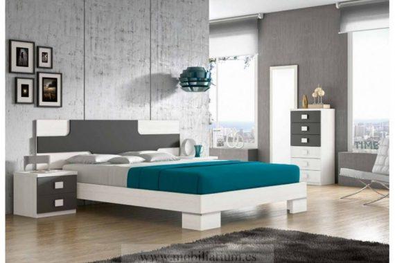 Dormitorios Matrimonio - Glicerio Chaves - Composición H405 - Catálogo Basic - Mobiliarium