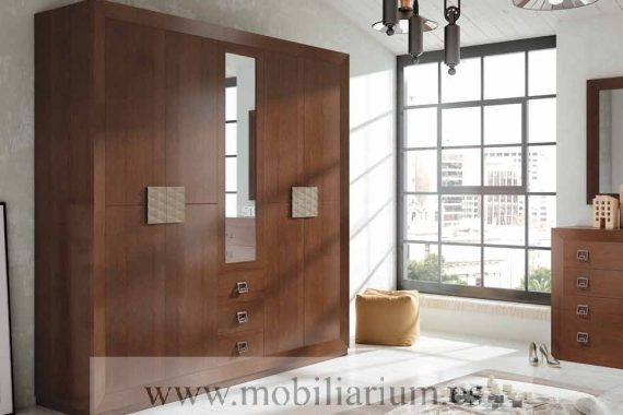 Armarios Dormitorios Matrimonio Rústicos Muñoz y Villareal - Catálogo Noa - Composición 02 - Mobiliarium